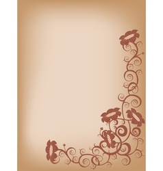 brown flower vector image