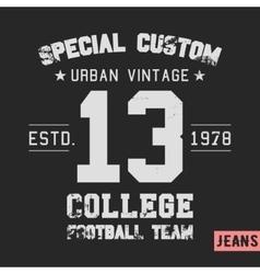 College team vintage stamp vector image vector image