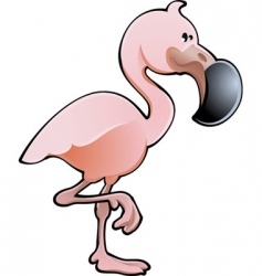 cute flamingo vector image vector image