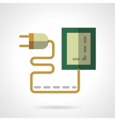 Eco charger flat color icon vector