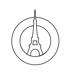 eiffel tower architecture vector image vector image