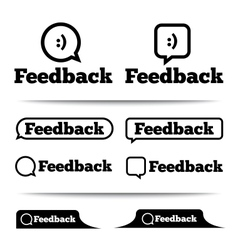 Feedback labels feedback tags feedback tab vector
