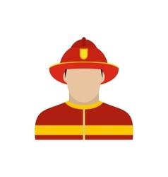 Fireman icon flat vector