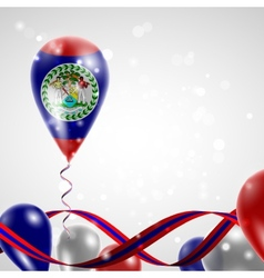 Flag of Belize on balloon vector image vector image