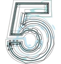 Font number 5 vector