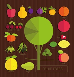 Fruits of fruit trees vector