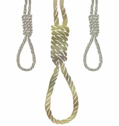 gallows knot vector image vector image