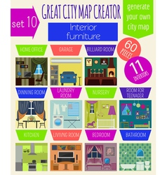 Great city map creator house constructorinteriors vector