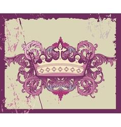 Grunge crown vector