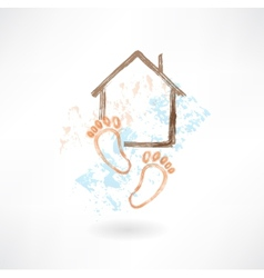 housewarming grunge icon vector image