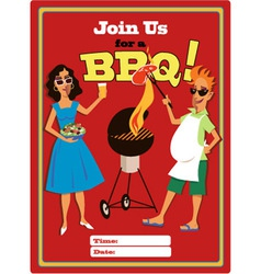 Join us for a bbq vector