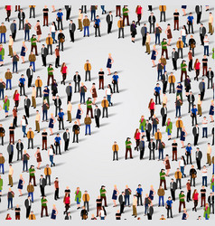 large group of people in number 2 two form vector image vector image