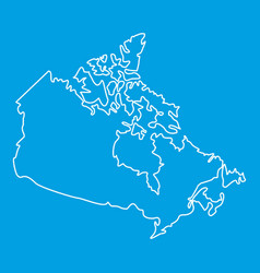 Map of canada icon outline style vector
