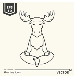 Meditative animals series - moose vector