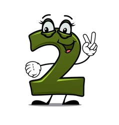 Number two cartoon image vector