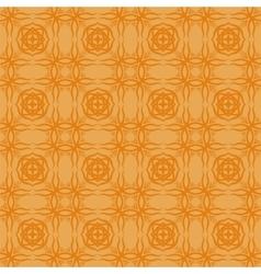 Orange decorative retro seamless pattern vector
