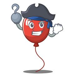Pirate balloon character cartoon style vector