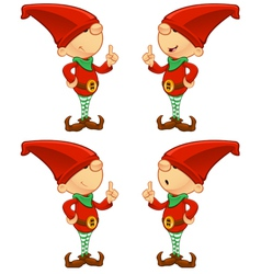 Red elf having an idea vector
