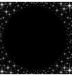 Shiny star border frame vector