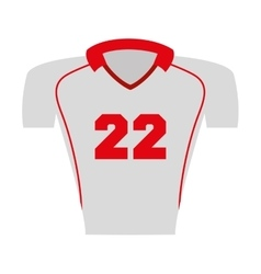 shirt captain football american sport vector image