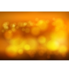 Bokeh blur romantic golden backdrop with fog vector