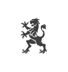 heraldic lion isolated on white background vector image