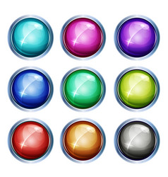 Rounded light icons and buttons vector