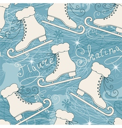 Seamless pattern with skates vector