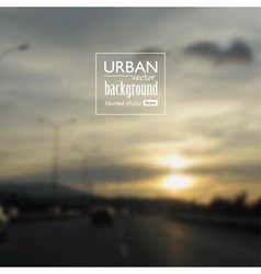 Urban blurred photo background vector