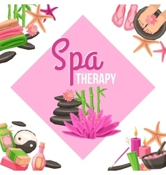 Spa corner set vector