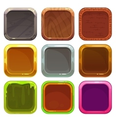 Set of square app icons vector