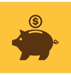 The moneybox icon cash and money wealth savings vector