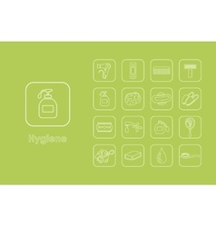 Set of hygiene simple icons vector