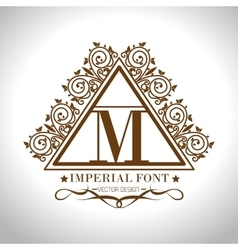 Imperial font design vector