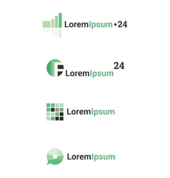 abstract logos set vector image