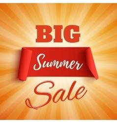 Big summer sale poster vector image vector image