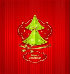 Christmas Tree Creative Post Card vector image vector image