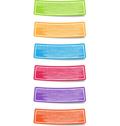 Colorful label paper with hand drawn texture vector image