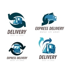 Delivery logo design template truck or car vector