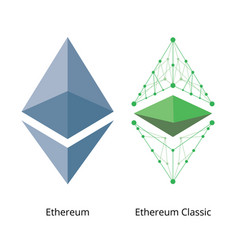 ethereum logo set vector image