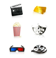 Film icon set vector image vector image