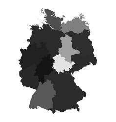 germany map divided on regions for infographic vector image vector image