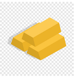 Gold bars isometric icon vector