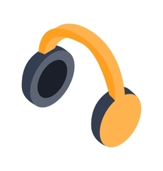 Headphones isometric 3d icon vector image