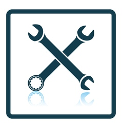 Icon of crossed wrench vector