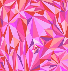 Low polygon abstract pink Triangle Geometrical vector image vector image