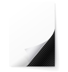Metal grid under a sheet of paper vector