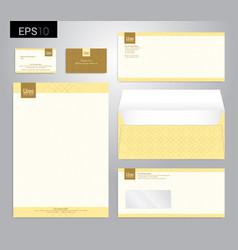 Modern stationery set in format letterhead vector