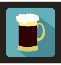 Mug of dark beer icon flat style vector image