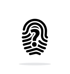Question mark sign thumbprint icon on white vector